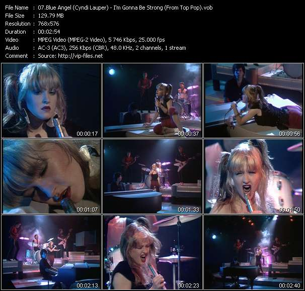 Screenshot of Music Video Blue Angel (Cyndi Lauper) - I'm Gonna Be Strong (From Top Pop)