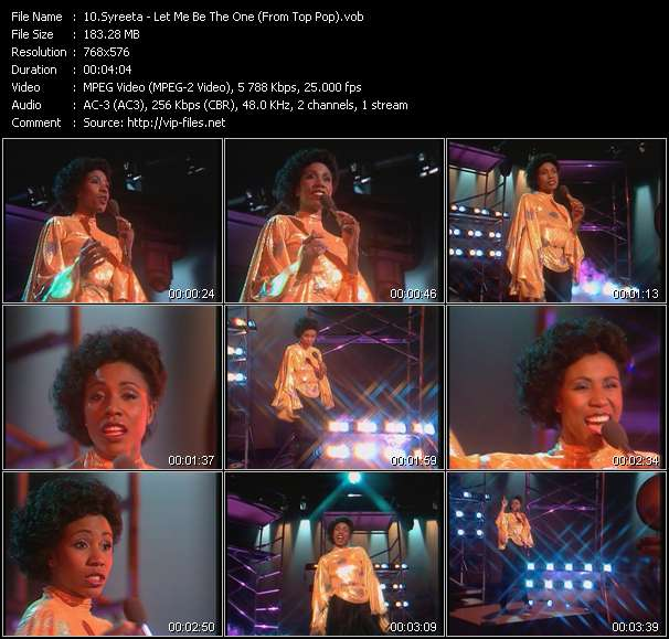 Screenshot of Music Video Syreeta - Let Me Be The One (From Top Pop)