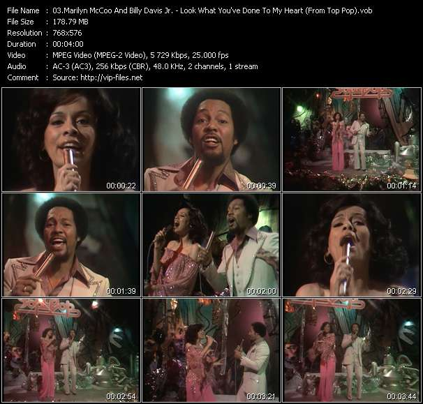 Screenshot of Music Video Marilyn McCoo And Billy Davis Jr. - Look What You've Done To My Heart (From Top Pop)