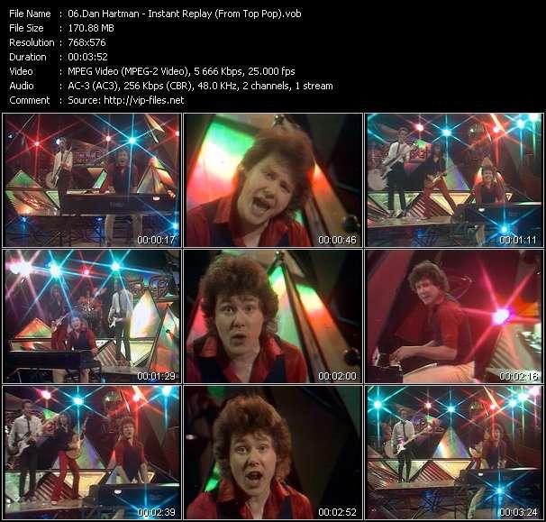 Screenshot of Music Video Dan Hartman - Instant Replay (From Top Pop)