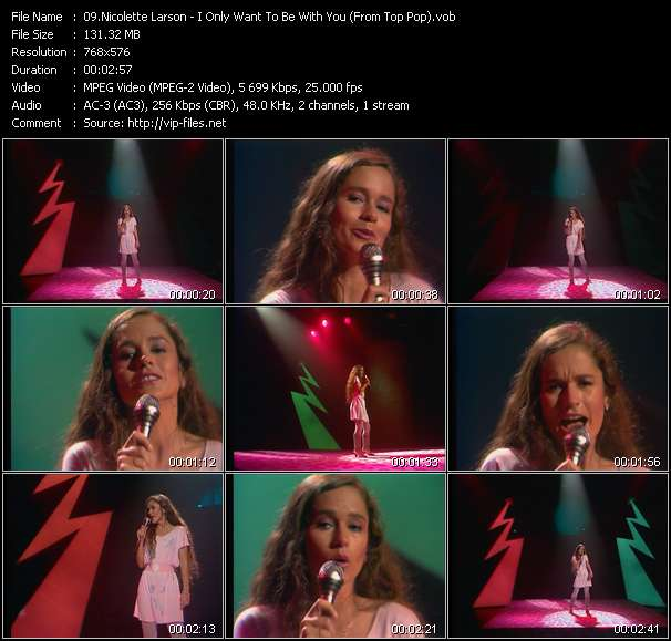Screenshot of Music Video Nicolette Larson - I Only Want To Be With You (From Top Pop)