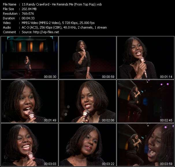 Screenshot of Music Video Randy Crawford - He Reminds Me (From Top Pop)