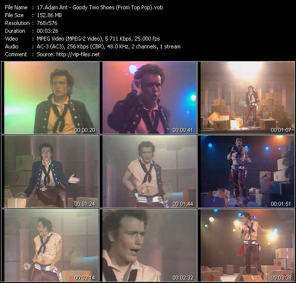 Screenshot of Music Video Adam Ant - Goody Two Shoes (From Top Pop)