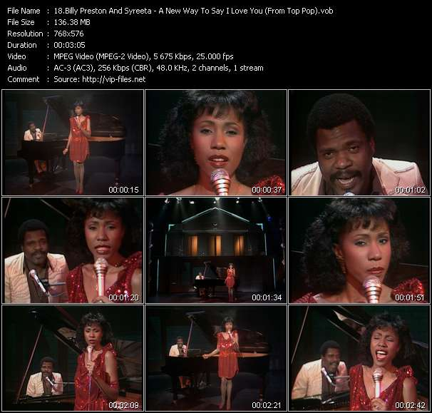 Screenshot of Music Video Billy Preston And Syreeta - A New Way To Say I Love You (From Top Pop)