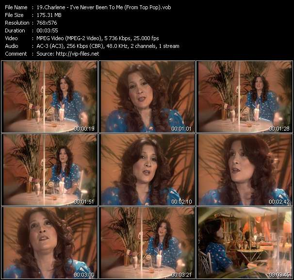 Screenshot of Music Video Charlene - I've Never Been To Me (From Top Pop)
