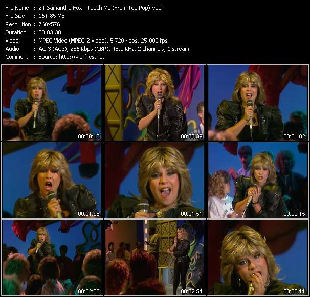 Screenshot of Music Video Samantha Fox - Touch Me (From Top Pop)