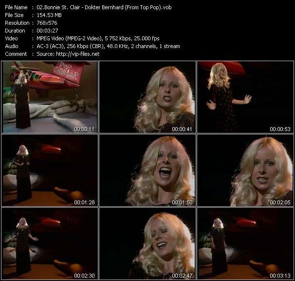 Screenshot of Music Video Bonnie St. Clair - Dokter Bernhard (From Top Pop)