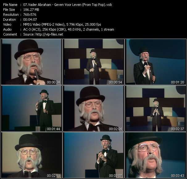 Screenshot of Music Video Vader Abraham - Geven Voor Leven (From Top Pop)