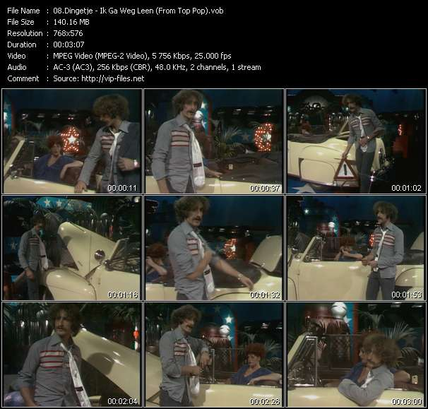 Screenshot of Music Video Dingetje - Ik Ga Weg Leen (From Top Pop)