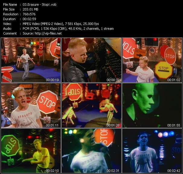 Erasure video vob