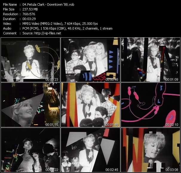 Screenshot of Music Video Petula Clark - Downtown '88