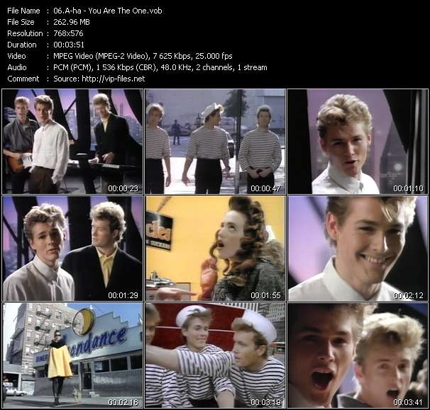 Screenshot of Music Video A-ha - You Are The One