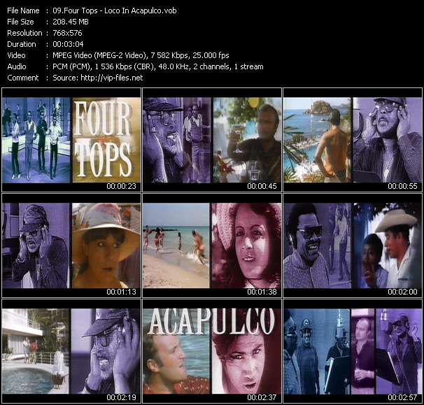 Screenshot of Music Video Four Tops - Loco In Acapulco