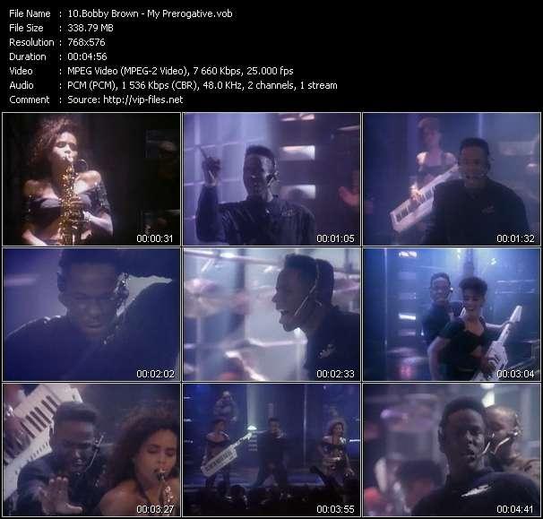 Screenshot of Music Video Bobby Brown - My Prerogative