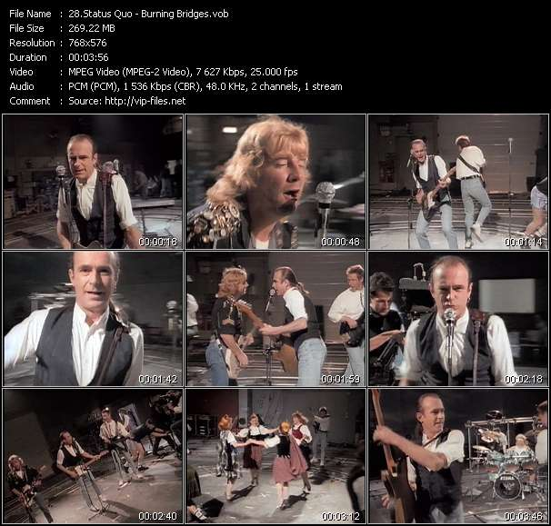 Screenshot of Music Video Status Quo - Burning Bridges