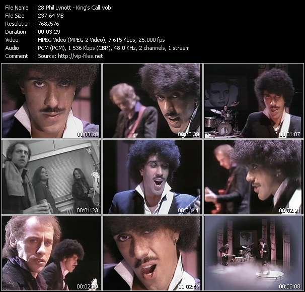 Screenshot of Music Video Phil Lynott - King's Call