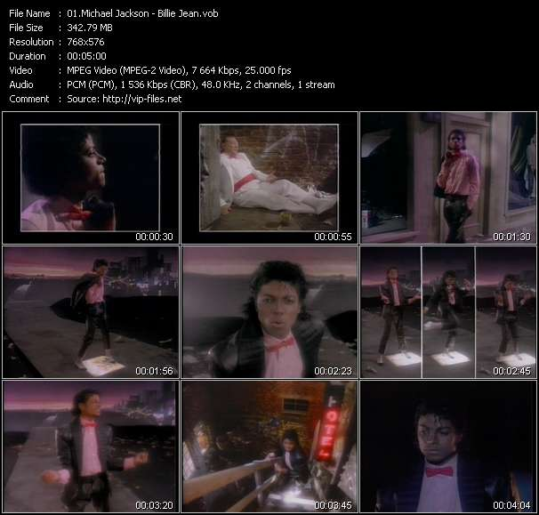 Screenshot of Music Video Michael Jackson - Billie Jean