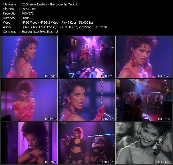 Sheena Easton clips musicaux vob