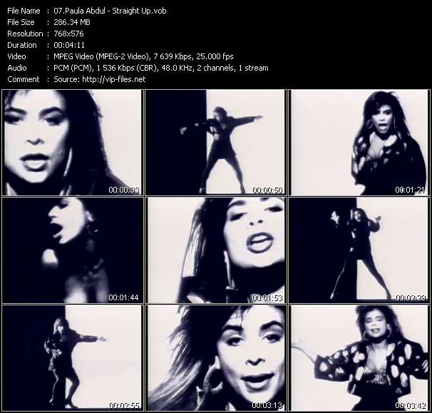 Paula Abdul video vob