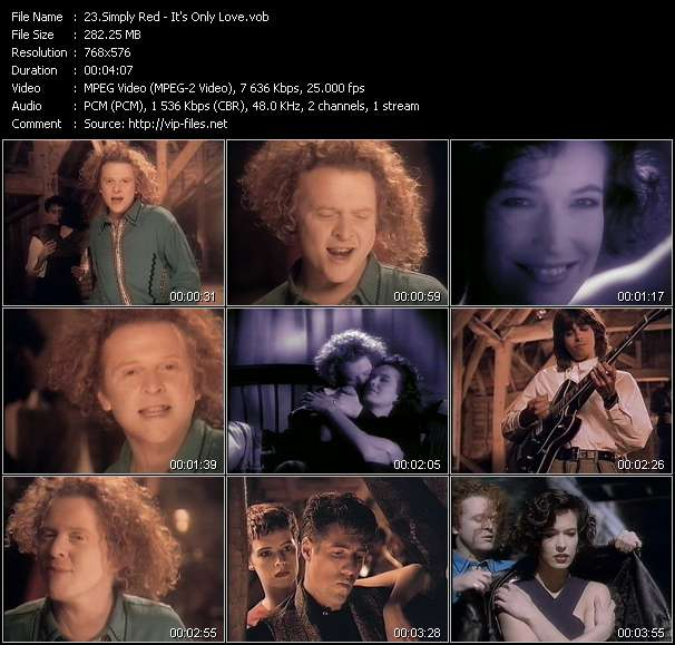 Simply Red video vob