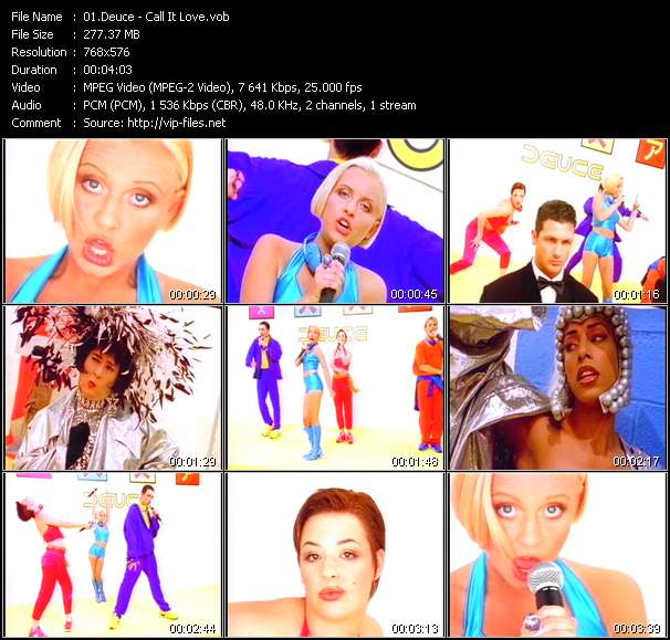 Screenshot of Music Video Deuce - Call It Love