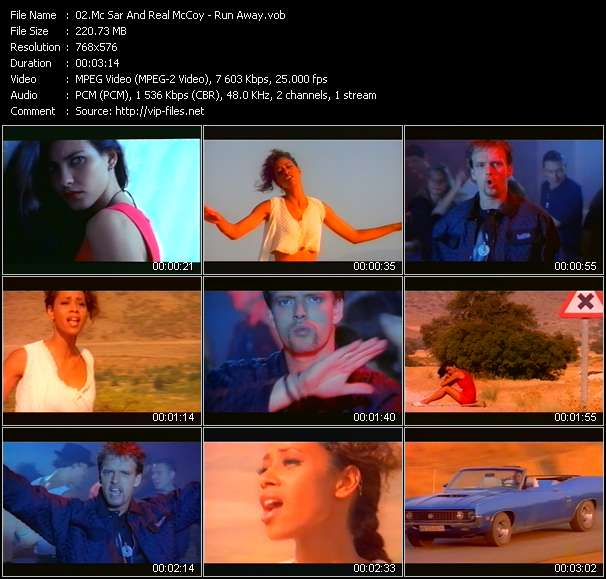 Screenshot of Music Video Real McCoy (Mc Sar And The Real McCoy) - Run Away