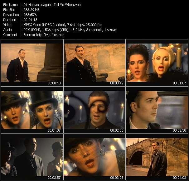Screenshot of Music Video Human League - Tell Me When