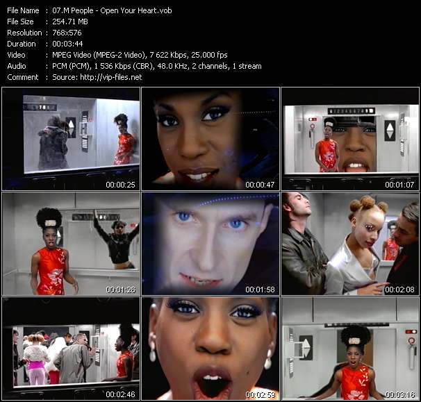 Screenshot of Music Video M People - Open Your Heart