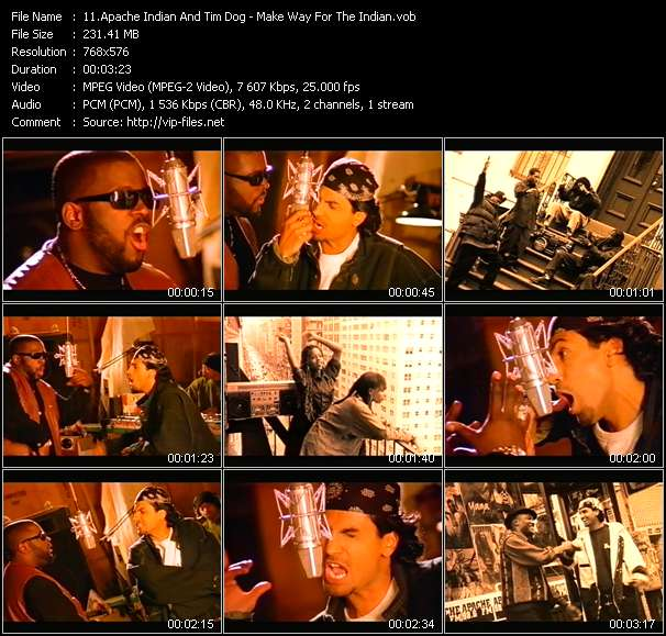 Screenshot of Music Video Apache Indian And Tim Dog - Make Way For The Indian