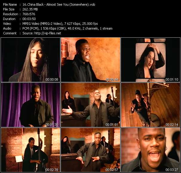 Screenshot of Music Video China Black - Almost See You (Somewhere)