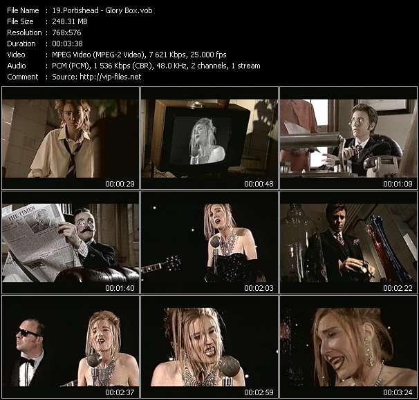 Screenshot of Music Video Portishead - Glory Box