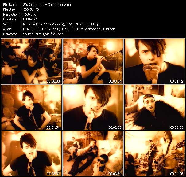 Screenshot of Music Video Suede - New Generation
