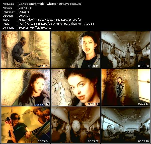 Screenshot of Music Video Heliocentric World - Where's Your Love Been