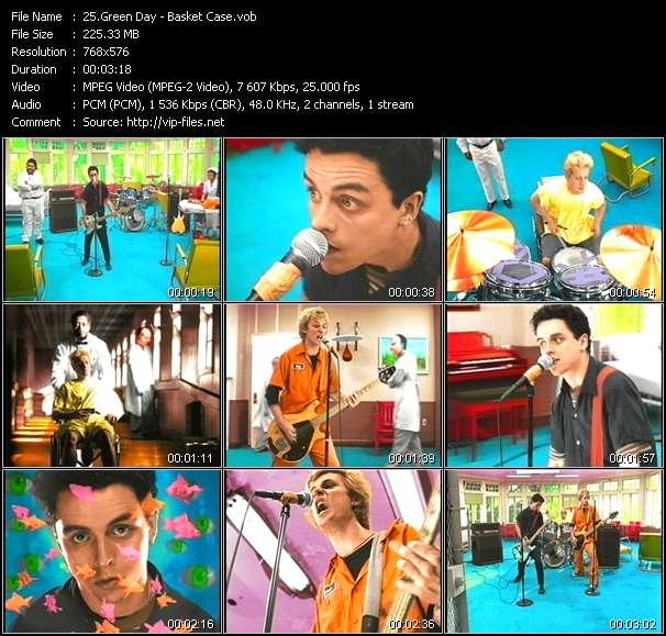 Screenshot of Music Video Green Day - Basket Case