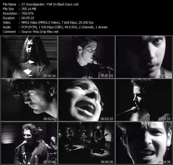 Screenshot of Music Video Soundgarden - Fell On Black Days