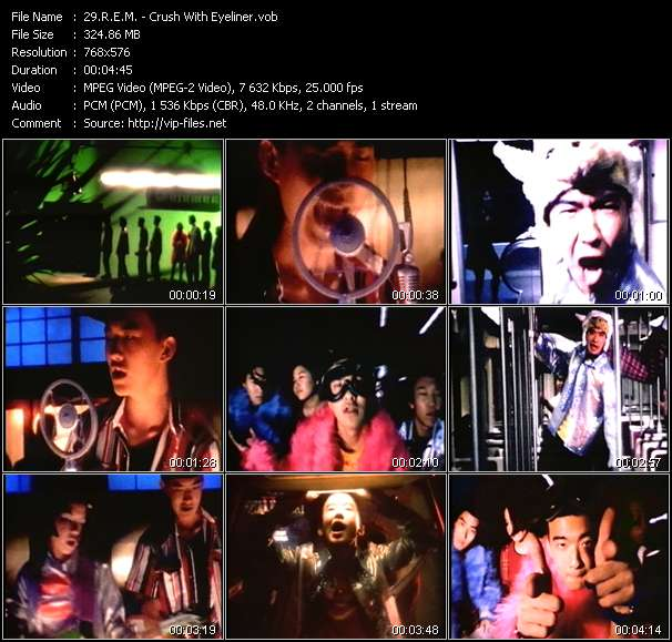 Screenshot of Music Video R.E.M. - Crush With Eyeliner