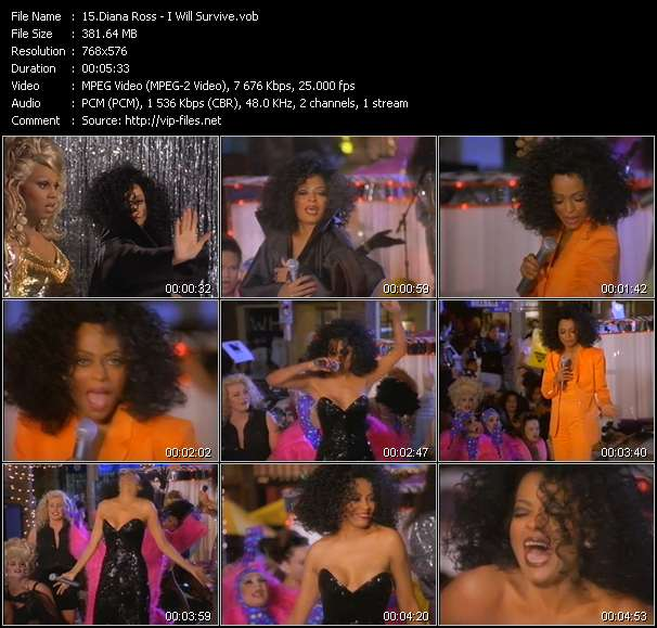 Diana Ross video vob
