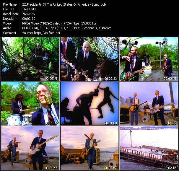 Presidents Of The United States Of America video vob