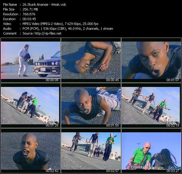 Screenshot of Music Video Skunk Anansie - Weak