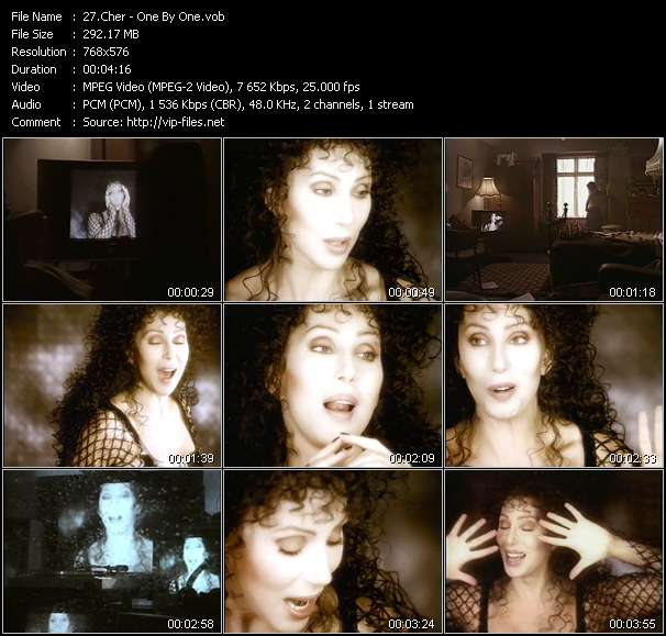 Screenshot of Music Video Cher - One By One