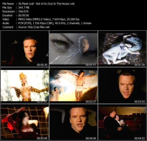 Screenshot of Music Video Meat Loaf - Not A Dry Eye In The House