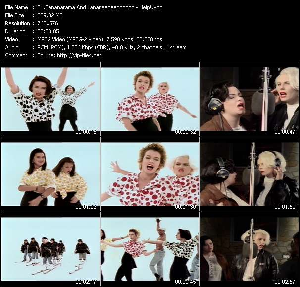 Bananarama And Lananeeneenoonoo video vob