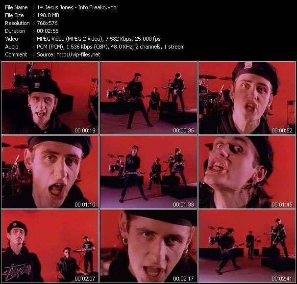 Screenshot of Music Video Jesus Jones - Info Freako