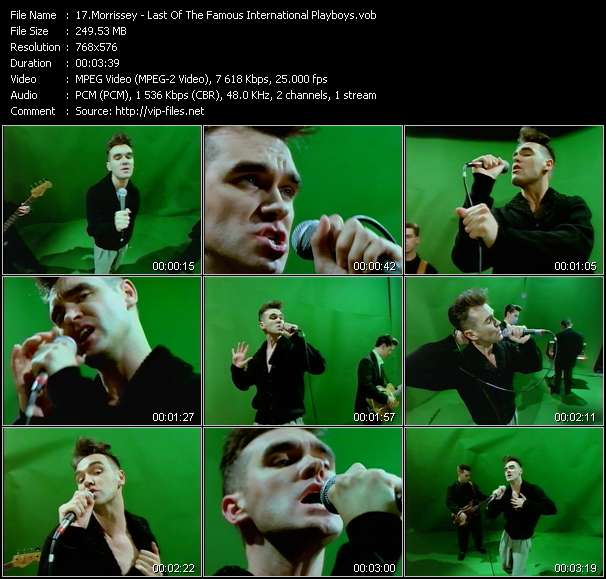 Screenshot of Music Video Morrissey - Last Of The Famous International Playboys