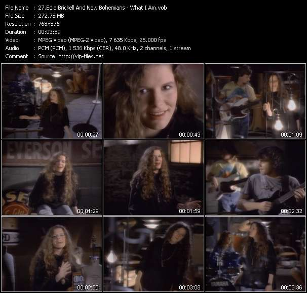 Screenshot of Music Video Edie Brickell And New Bohemians - What I Am