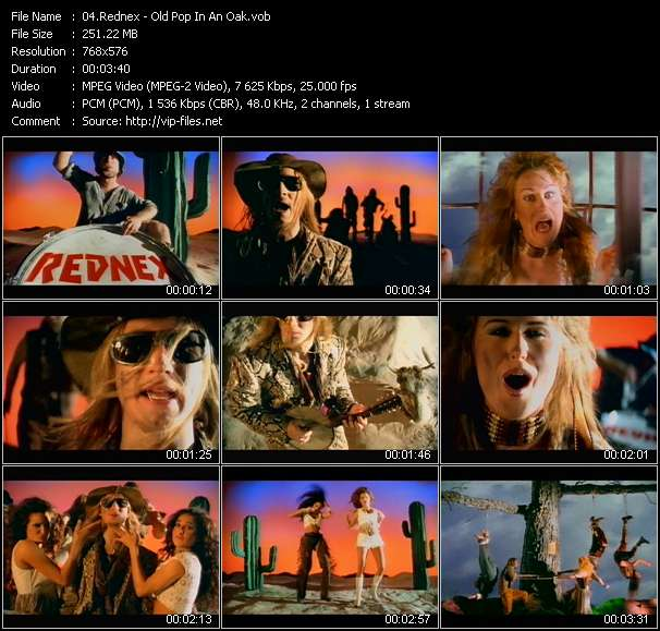 Screenshot of Music Video Rednex - Old Pop In An Oak