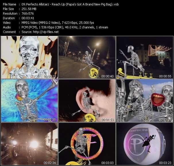 Screenshot of Music Video Perfecto Allstarz - Reach Up (Papa's Got A Brand New Pig Bag)