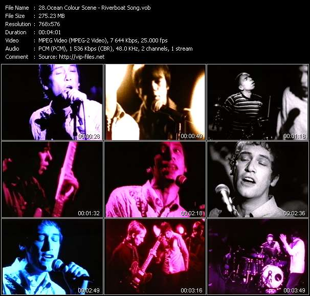 Screenshot of Music Video Ocean Colour Scene - Riverboat Song