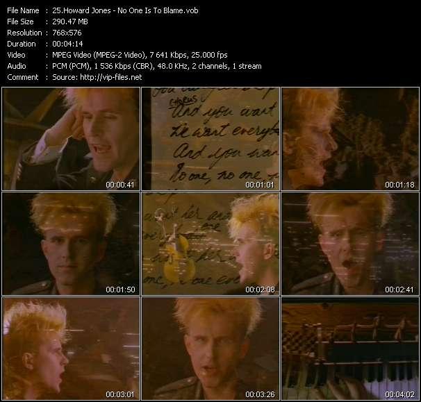 Screenshot of Music Video Howard Jones - No One Is To Blame