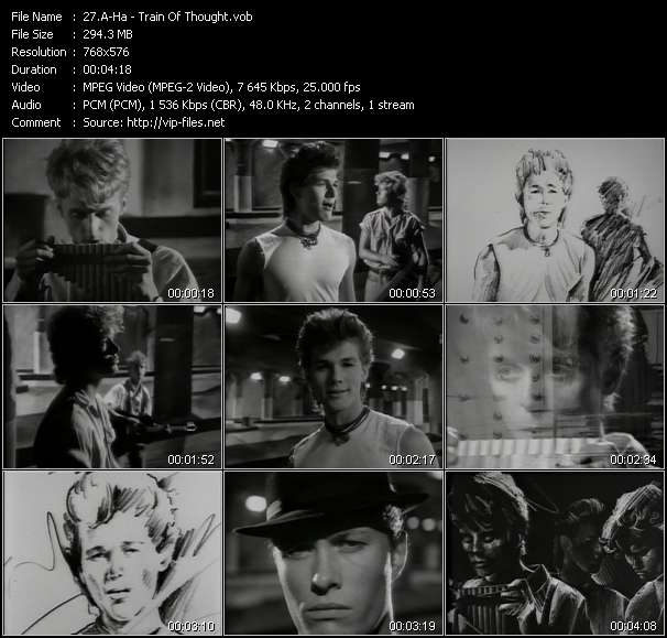 Screenshot of Music Video A-Ha - Train Of Thought